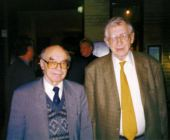 With old friend-rival D.Bronstein in middle nineties, Holland
