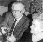 Partners and champagne at the 75th grandmaster s Jubilee, Moscow 1996